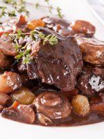 Receta de carne guisada con setas