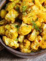 Receta de coliflor al horno con curry