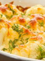 Receta de coliflor al horno con queso