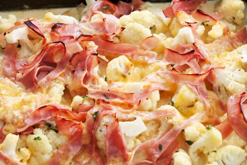Receta de coliflor gratinada con bacon