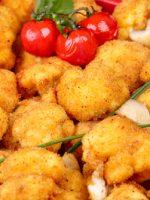 Receta de coliflor rebozada vegana