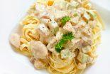 espaguetis-con-nata-y-pollo