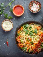 Receta de espaguetis con verduras al wok
