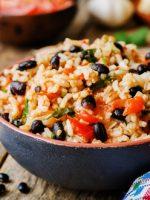 Receta de frijoles con arroz cubano