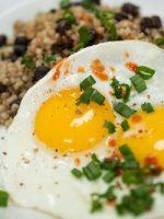 Receta de frijoles con arroz y con huevo