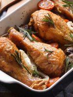 Receta de pollo al horno con almendras