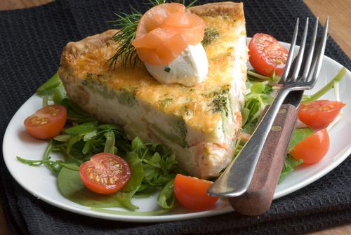 Receta de quiche de espinacas y salmón