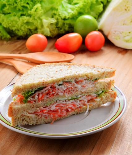 Receta de sándwich de cangrejo