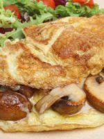 Receta de tortilla francesa de setas