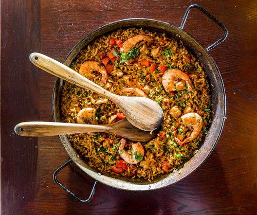Receta de arroz a banda murciano
