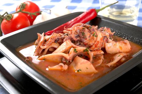 Receta de calamares en salsa picante
