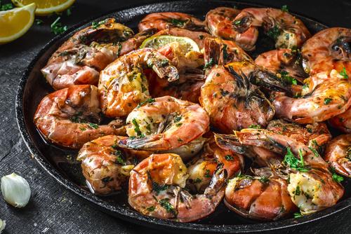 Receta de langostinos al horno con ajo y perejil for Langostinos al horno