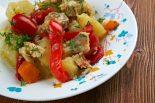 rape al horno con patatas y verduras