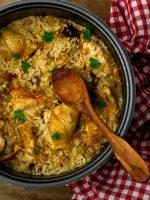 Receta de arroz con pollo al ajillo
