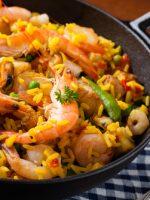 Receta de arroz con pollo y marisco