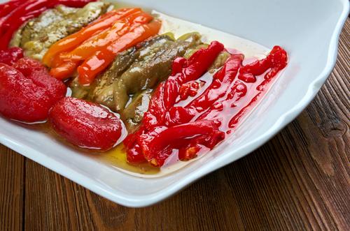 Receta de berenjenas asadas con pimientos