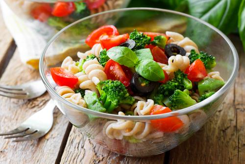 Receta de ensalada de pasta vegetariana