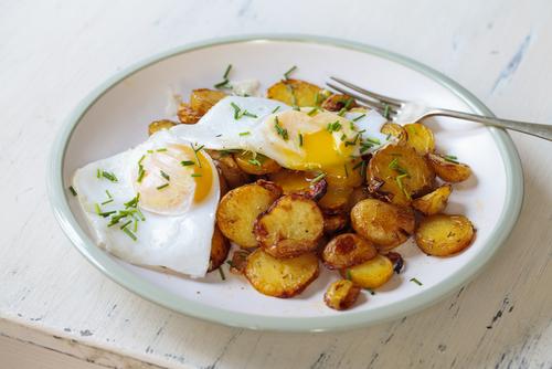 Receta de patatas fritas con huevo