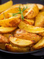 Receta de patatas fritas con piel