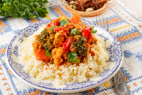 Receta de pollo al curry con cuscus