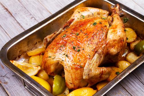 Receta de pollo al horno con manzana