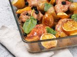 pollo al limón al horno con patatas