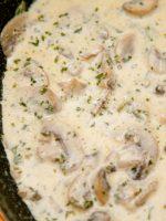 Receta de salsa de champiñones con nata