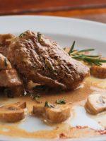 Receta de solomillo de cerdo en salsa de champiñones