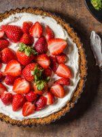 Receta de tarta de queso con fresas