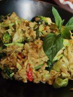 Receta de brócoli salteado con soja y arroz