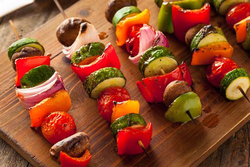 Receta de brochetas de verduras a la plancha
