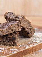 Receta de brownie de avena