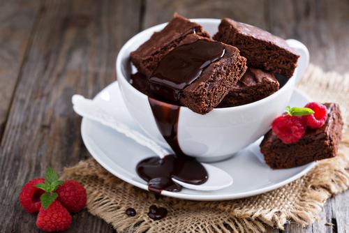 Receta de brownie en taza