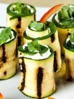 Receta de calabacines a la plancha con queso