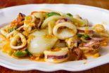 calamares a la plancha con cebolla