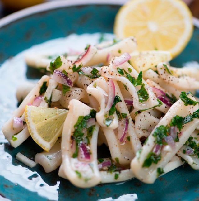 Receta de calamares al horno con limón