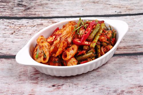 Receta de calamares al horno con verduras