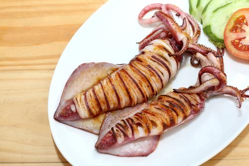 Receta de calamares al horno light