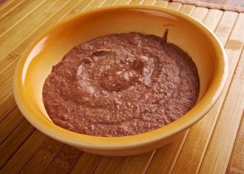 Receta de frijoles refritos con chorizo