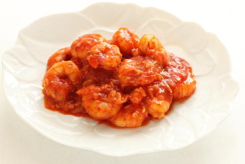 Receta de gambas al ajillo con tomate