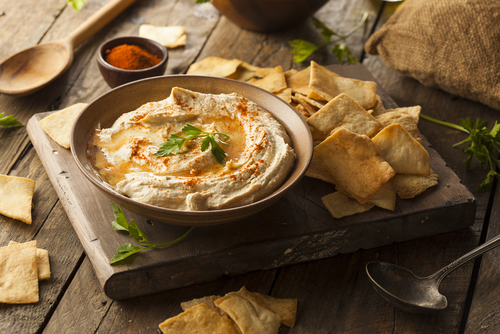 Receta de hummus light