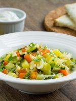 Receta de menestra de verduras con pollo