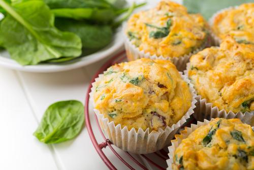 Receta de muffins salados de espinaca