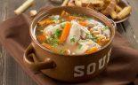 sopa de pollo y carne