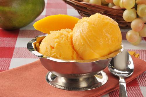 Receta de sorbete de mango