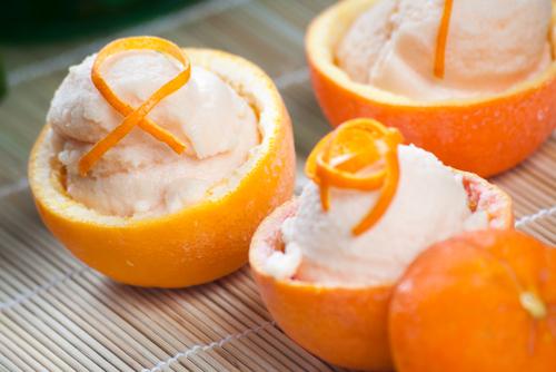 Receta de sorbete de naranja
