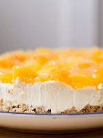 Receta de tarta de queso con mermelada de melocotón