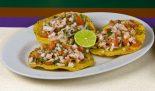 tostadas mexicanas con camarones