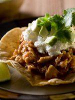 Receta de tostadas mexicanas con carne molida