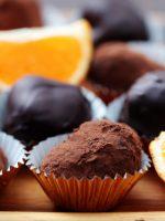 Receta de trufas de chocolate y naranja